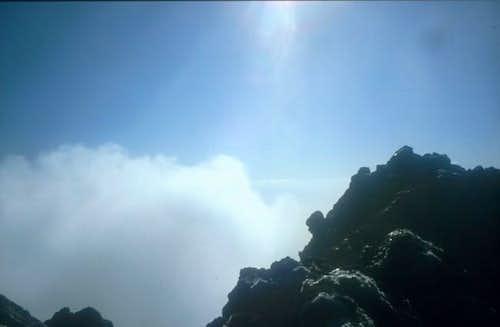 Rocks on the summit of Mount...