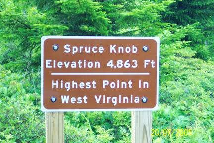 Spruce Knob -- The Highpoint Sign (2005)