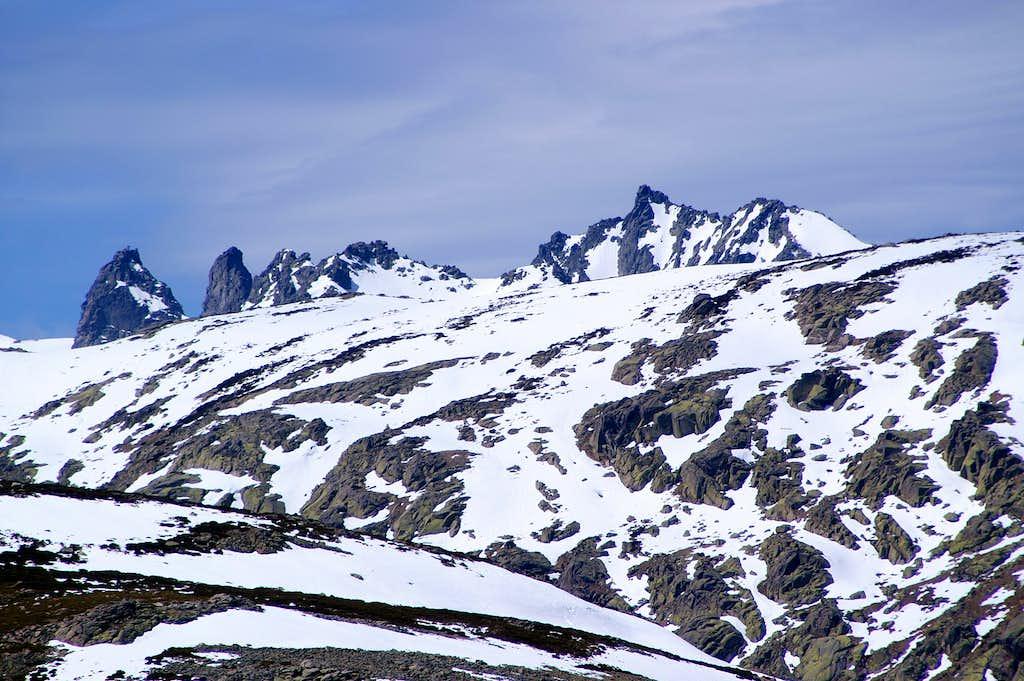 The arisen peaks
