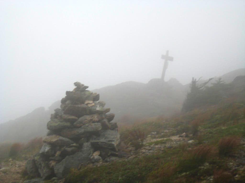 Dense Fog ascending Mount Eisenhower
