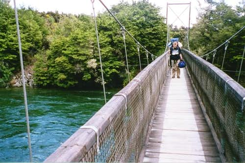 Crossing the bridge near...