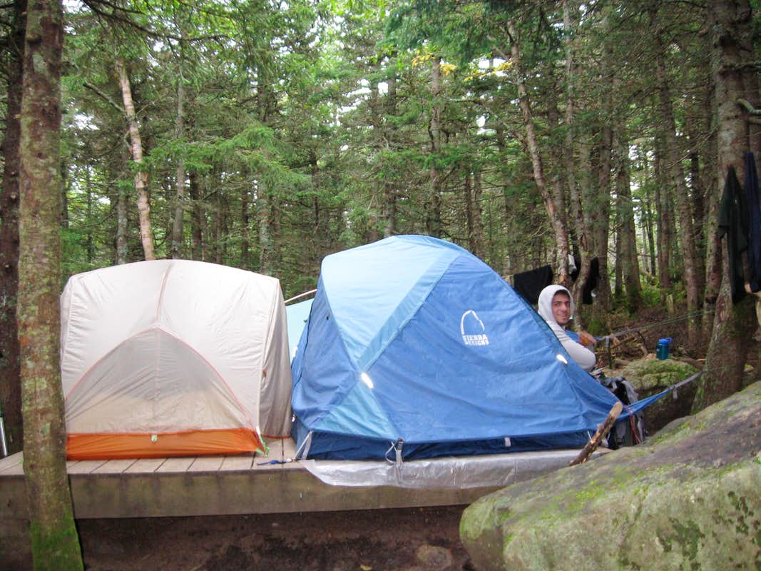 Tent platform at mizpah photos diagrams topos for Tent platform plans