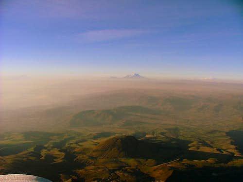 Ecuadorian Andes from Illiniza Sur summit.
