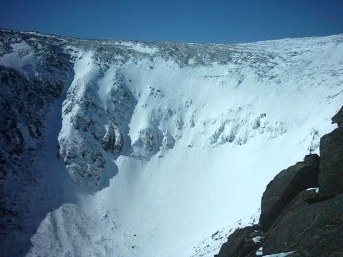 A view of Tuckerman Ravine...