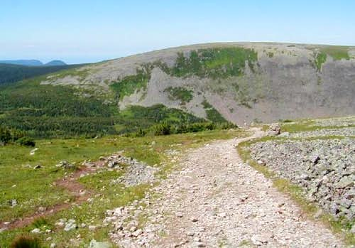 A view of a typical trail...
