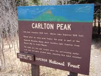 Carlton Peak Informational Sign