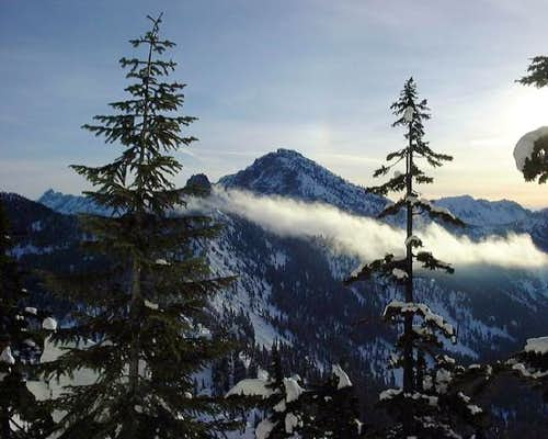 Snoqualmie Mountain above the...
