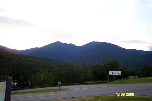 Mts. Adams, Jefferson, and Madison from Pinkham Notch in NH