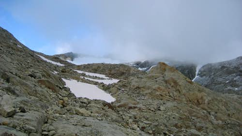 Looking toward the upper basin