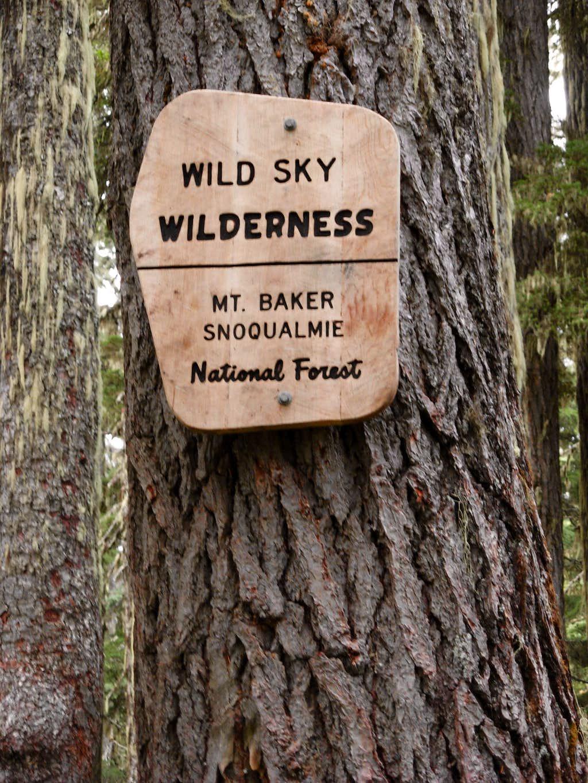 Wild Sky Wilderness Sign