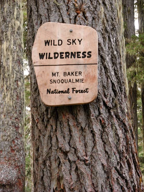 Wild Sky Wilderness Sign