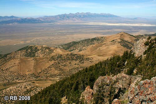 East Humboldt Range from Spruce Mountain