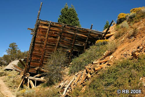 Collapsed structure in Sprucemont, Nevada