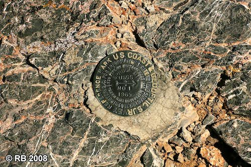 Spruce Mountain reference mark