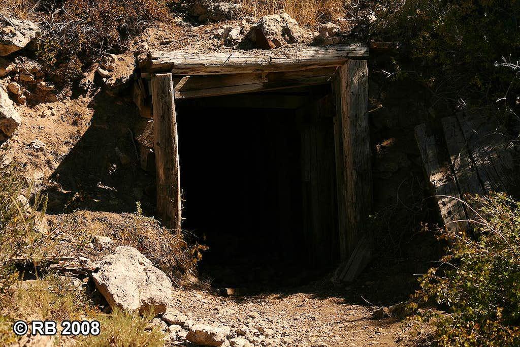 Spruce Mountain mine shaft entrance