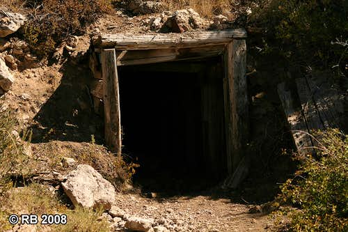 Spruce Mountain mine shaft entrance