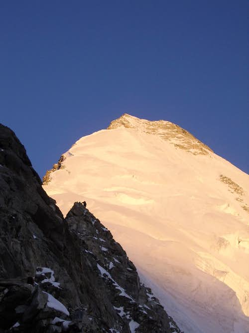 Sunrise on the Weisshorn