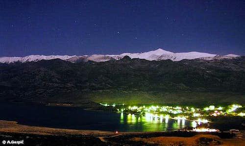 Night view of Velebit