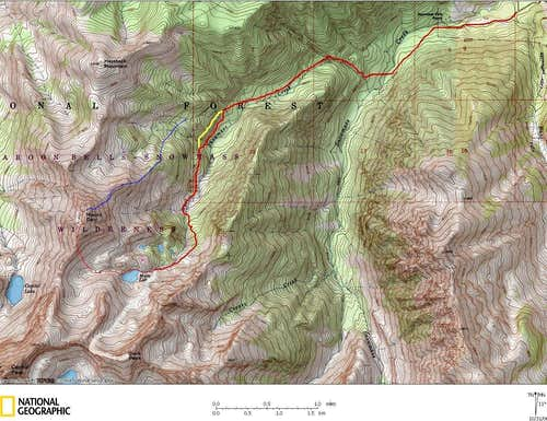 Daly Route and Campsites