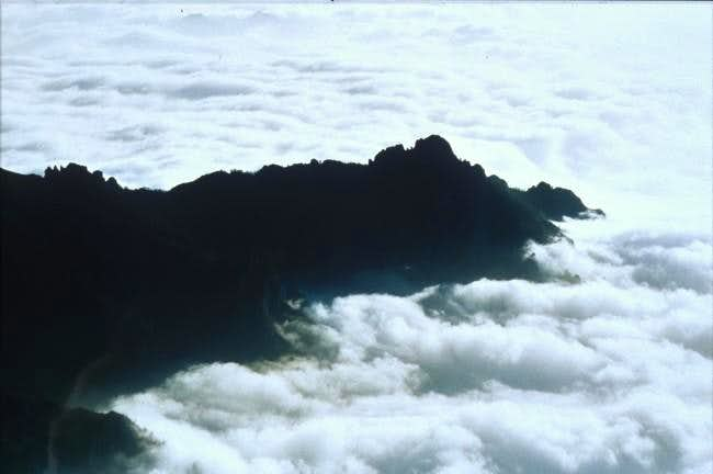 Over the clouds, on the ridge...