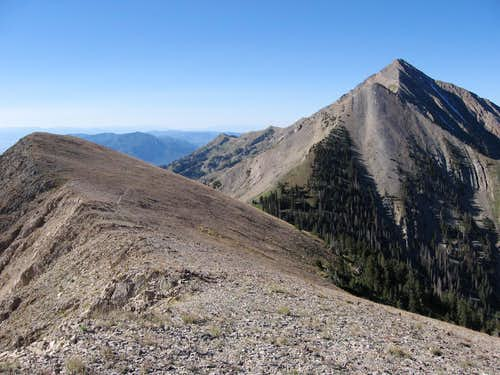 View south from summit of North Peak