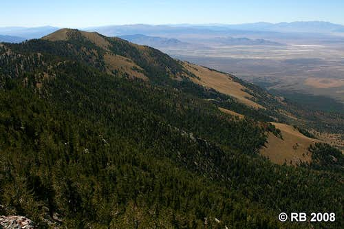 Spruce Mountain summit view