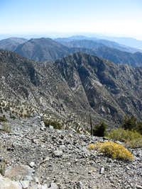 Telescope Peak, View from the summit, Death Valley, California