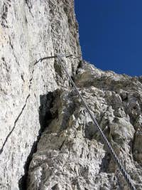 Detail from ferrata Tomaselli route