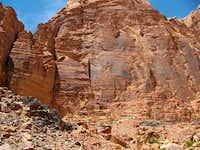 The main wall of Gabel Rum, Wadirum
