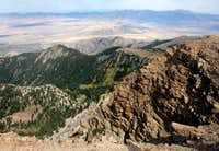 view south from Deseret Peak