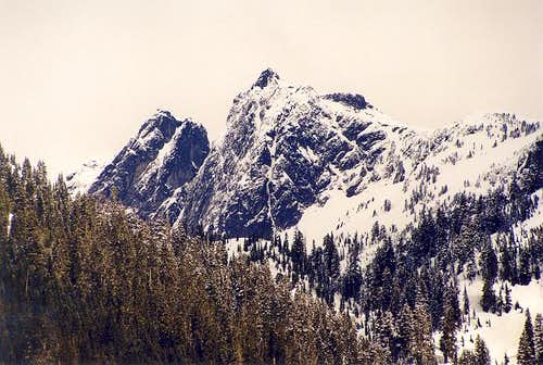 Thornton Peak from the SSW...