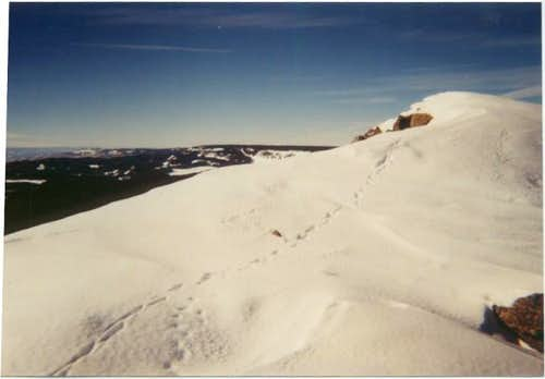 Crag Crest in winter.