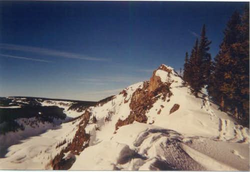 Summit of Crag Crest in winter.