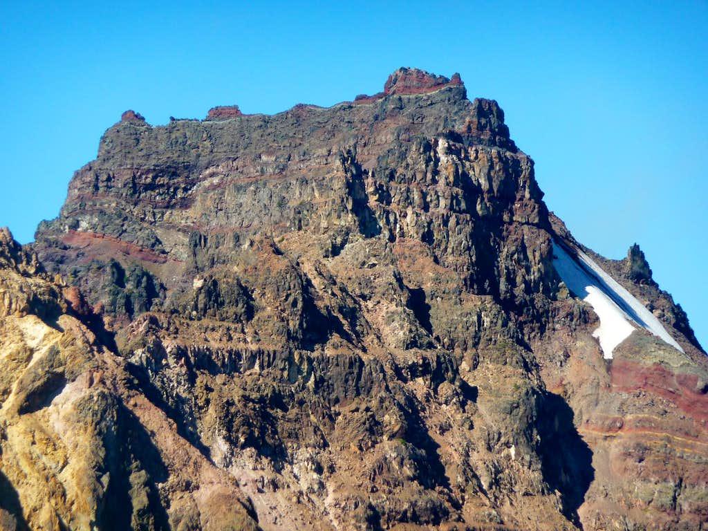 The summit block's eastern...
