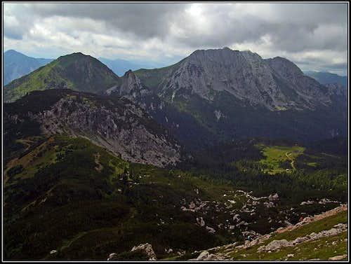 The view towards Zermula