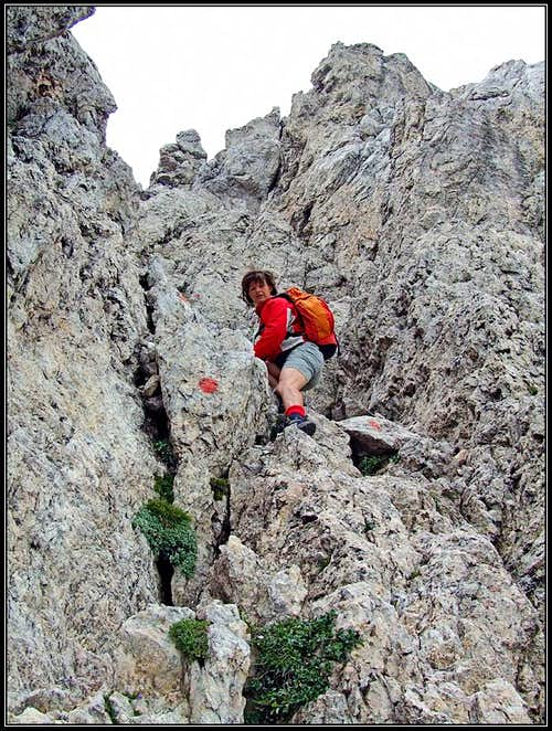 In Creta di Aip / Trogkofel SW route
