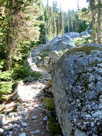 Large Boulders On Deception Lakes Trail
