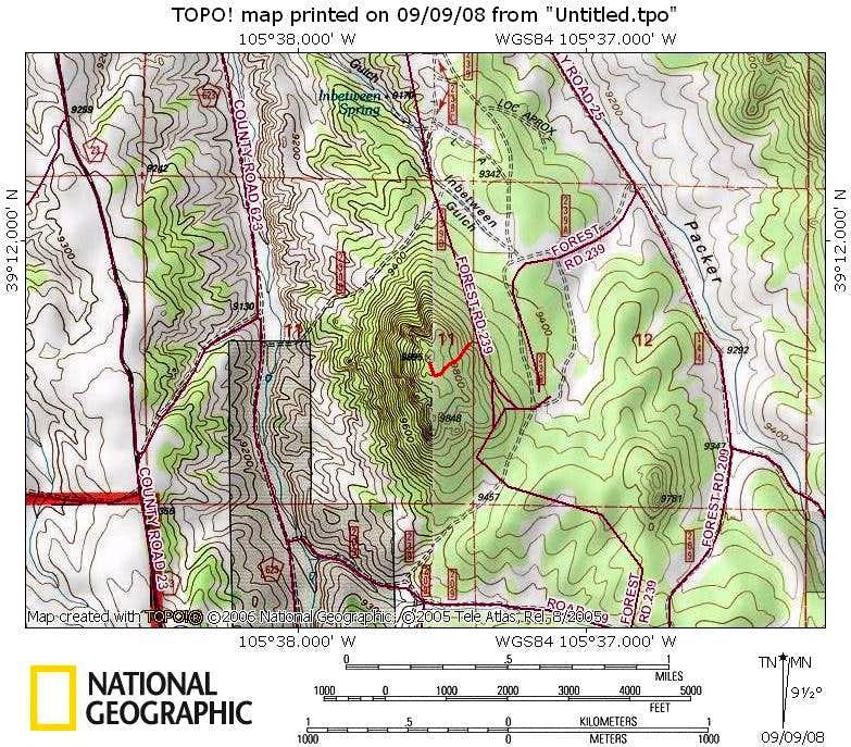 Route Map - UN 9895B