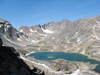 A view up the Skytop Lakes drainage to Skytop Glacier