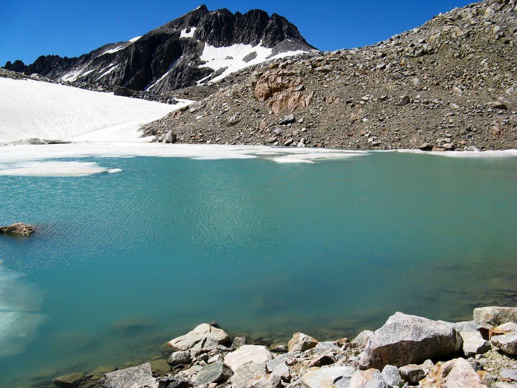 tarn just below Skytop Glacier, with Mt. Villard in the Background.