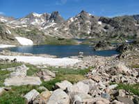 Aptly named Rough Lake, with the Mt. Villard Spires behind, and point 11397
