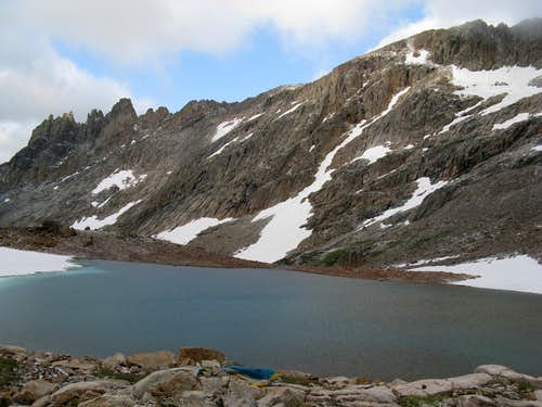 One of the Skytop Lakes and the South Ridge of Mt. Villard