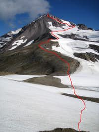 Our approximate ascent route