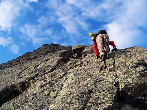 Starting the climb