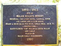Plaque in the basin