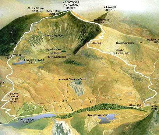 Routes Up Snowdon >> Rhyd Ddu Path : Climbing, Hiking & Mountaineering : SummitPost