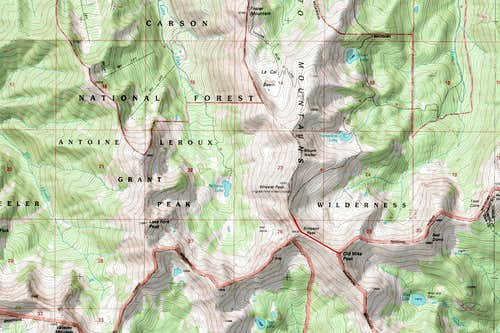 Old Mike Peak Map
