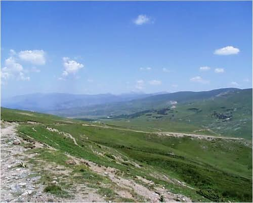 Sar Planina Highlands from Mt. Kolosjan Road
