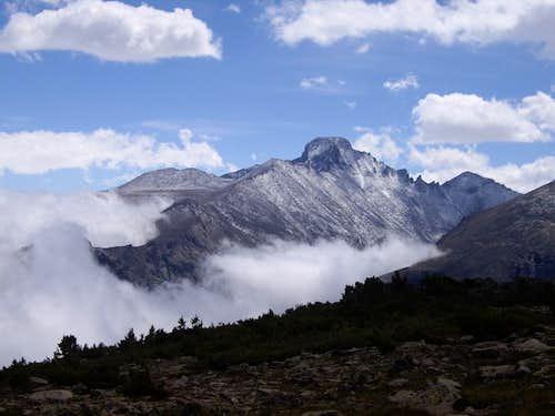 Longs Peak in a cloud inversion