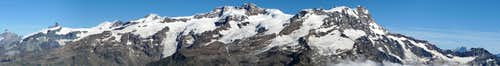Panorama of Monte Rosa